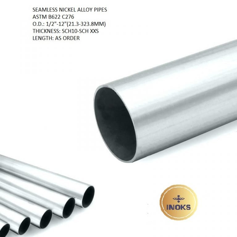B622 C276 SEAMLESS NICKEL ALLOY PIPES