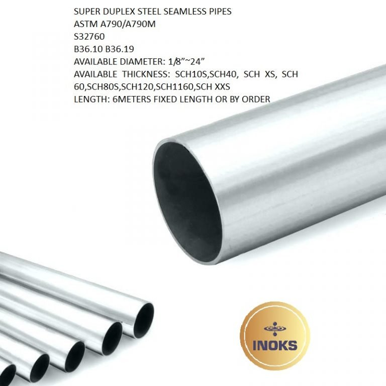 SUPER DUPLEX STEEL SEAMLESS PIPES A790 S32760